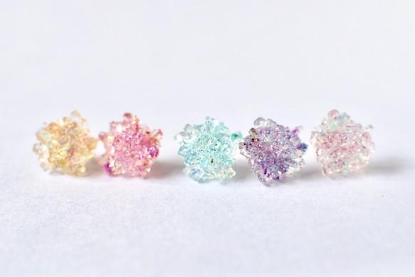 メルマガ掲載☆花鉱物ピアス/イヤリング【華氷】