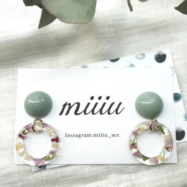 mixcolor hoopピアス/イヤリング